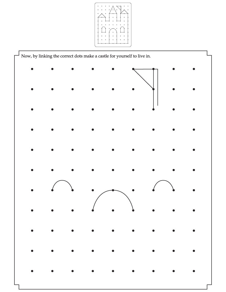 Linking the correct dots make a castle for yourself
