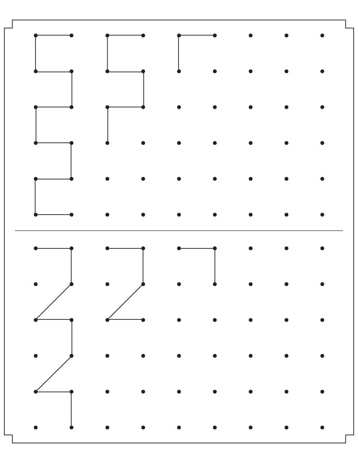 Join the dots to complete the patterns
