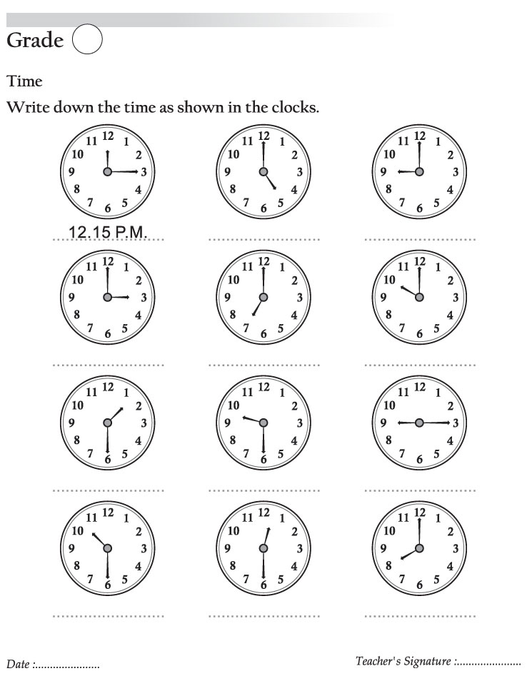 math worksheet : write sown time as shown in the clock  download free write sown  : Maths Clocks Worksheets
