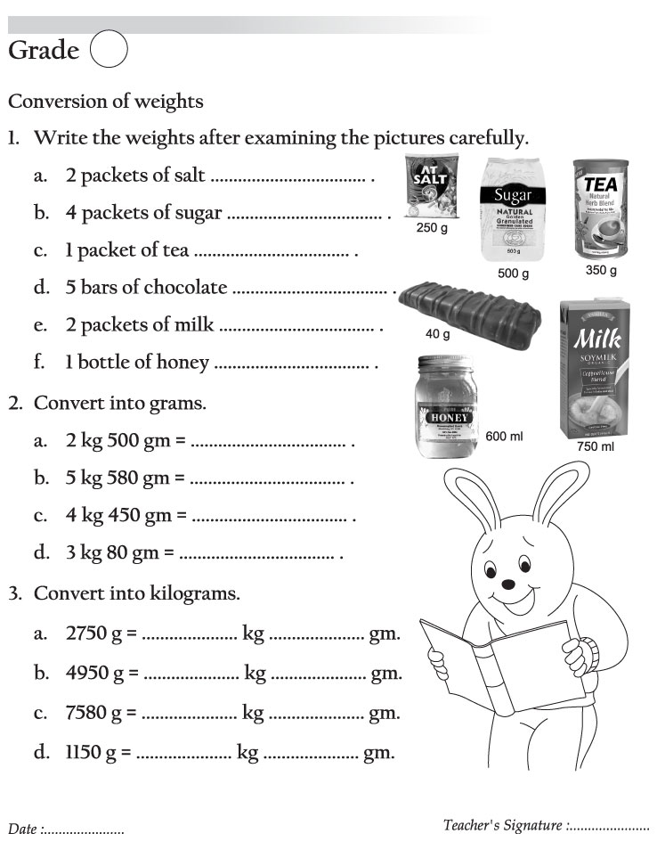... | Download Free Conversion of weights for kids | Best Coloring Pages