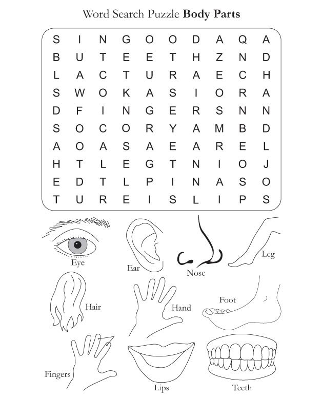 Body Parts Puzzle Pictures To Pin On Pinterest