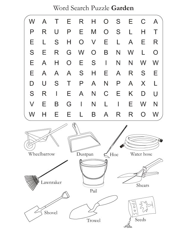 Word Search Puzzle Garden | Download Free Word Search Puzzle Garden ...