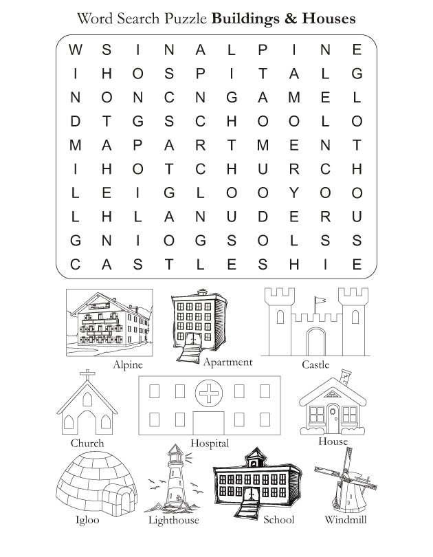 Word search puzzle houses and buildings download free word search word search puzzle houses and buildings ibookread ePUb