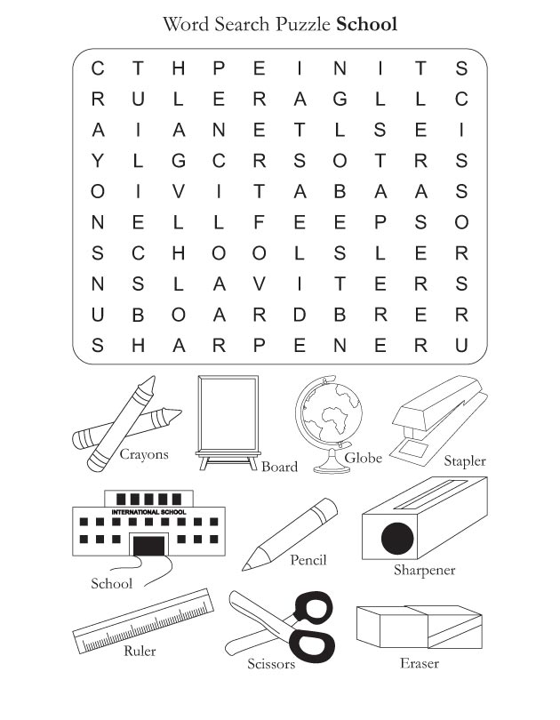 Word Search Puzzle School