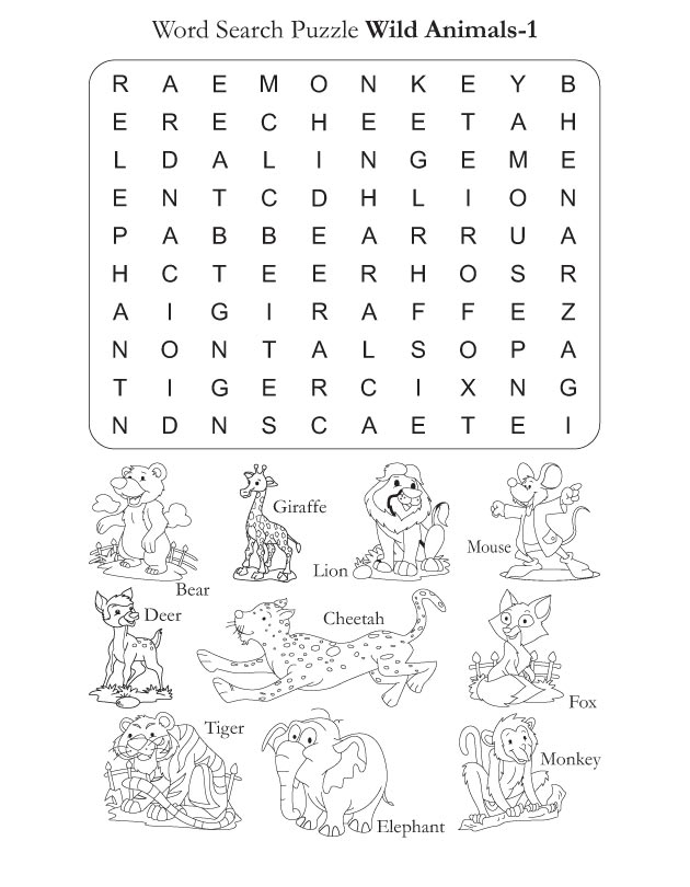 preschool word search puzzle wild animals 1 download free preschool word search puzzle wild. Black Bedroom Furniture Sets. Home Design Ideas