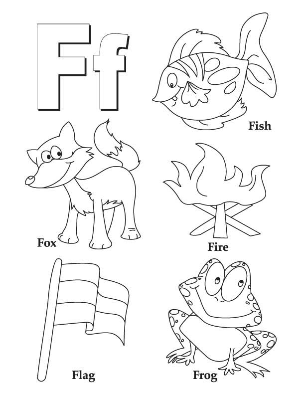 four letter f words my a to z coloring book letter f coloring page 21803