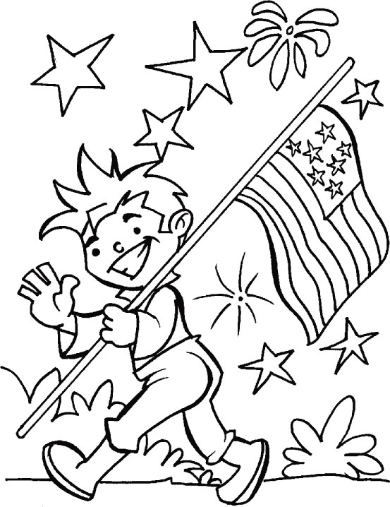 It is an image of Fourth of July Printable Coloring Pages inside high resolution