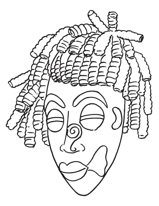 Printable african masks coloring pages coloring page african mask coloring page free pronofoot35fo Gallery