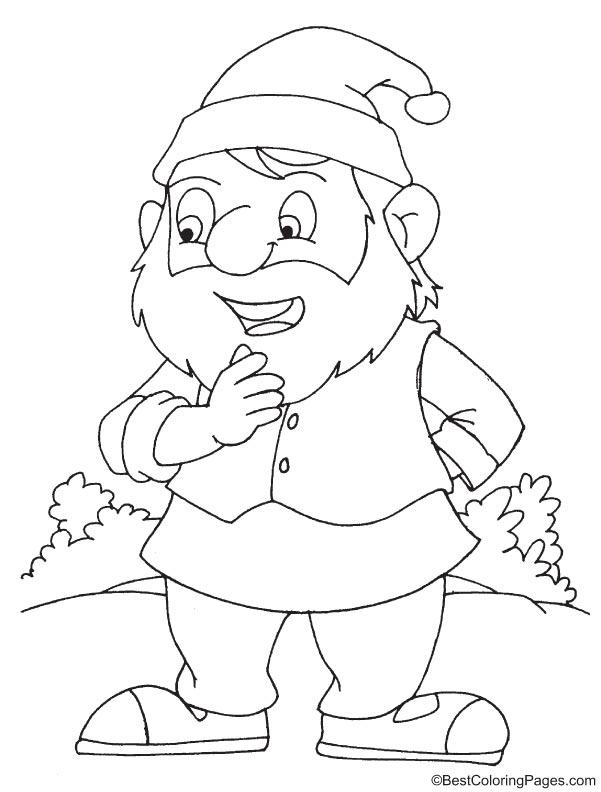 Bashful dwarf coloring page   Download Free Bashful dwarf ...
