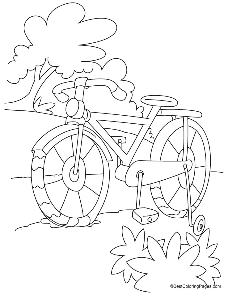 Full length kids bike coloring page | Download Free Full ...