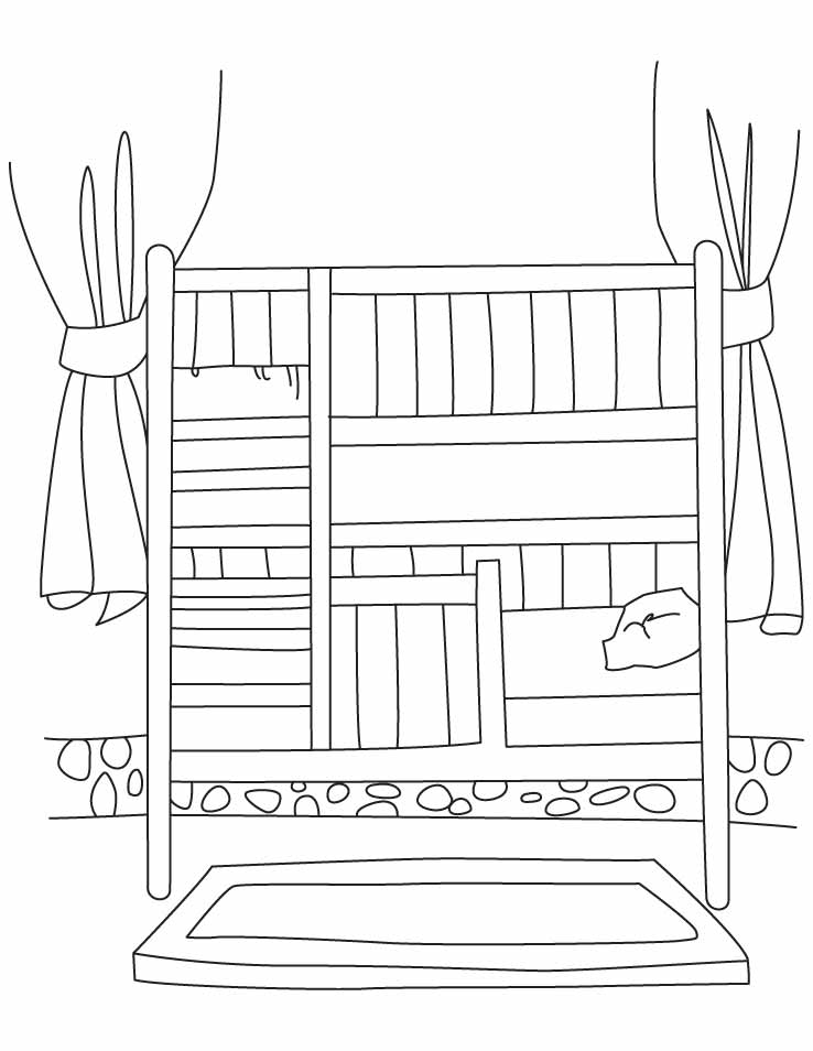 coloring pages of beds - photo#18