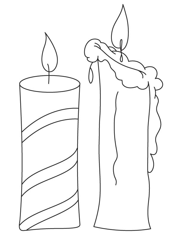 Candles coloring page | Download Free Candles coloring ...
