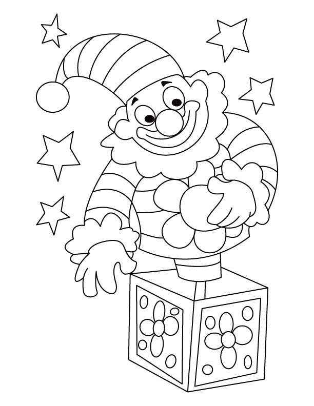 circus clown coloring page free