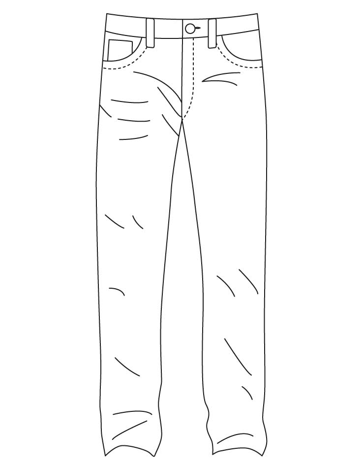 This is a photo of Modest Pants Coloring Page