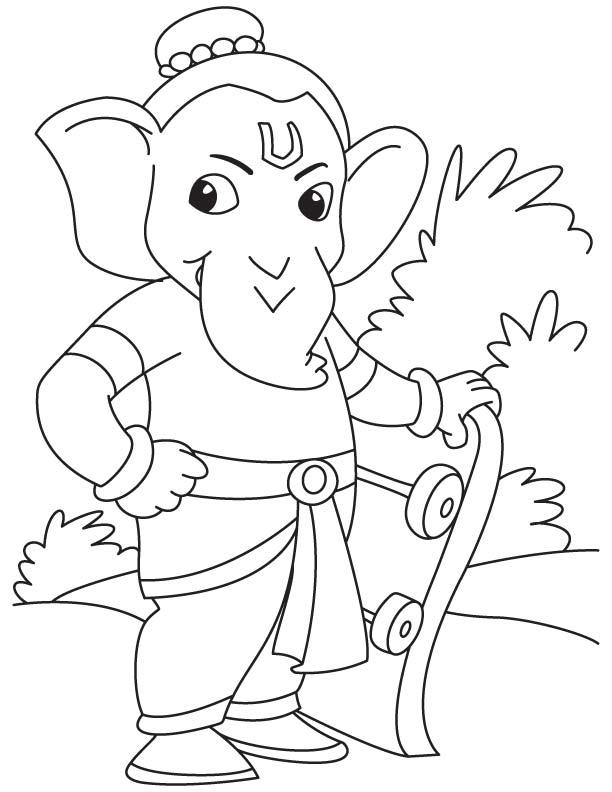 Easy ganpati sketch for kids   Download Free Easy ganpati ...