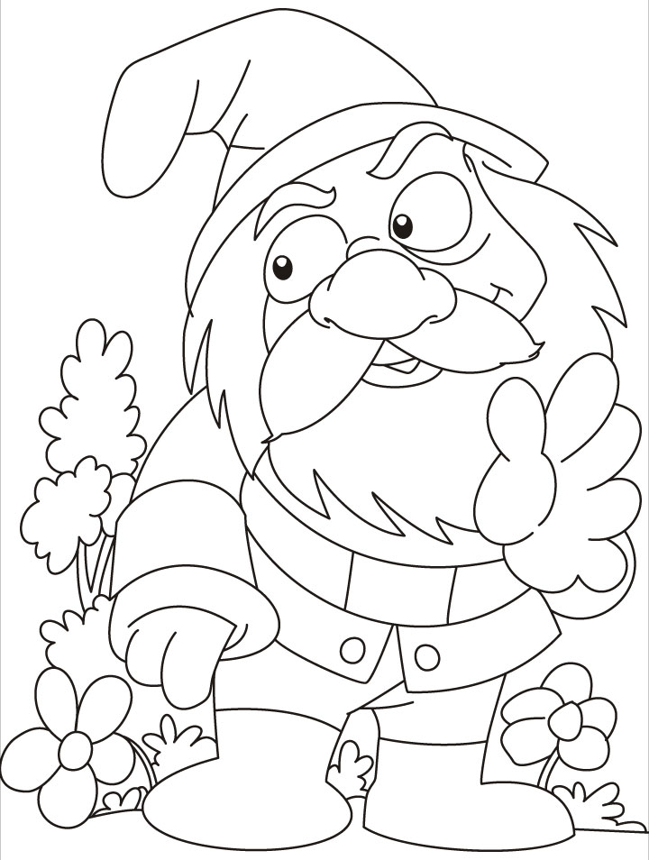 Gnome Home Coloring Coloring Pages
