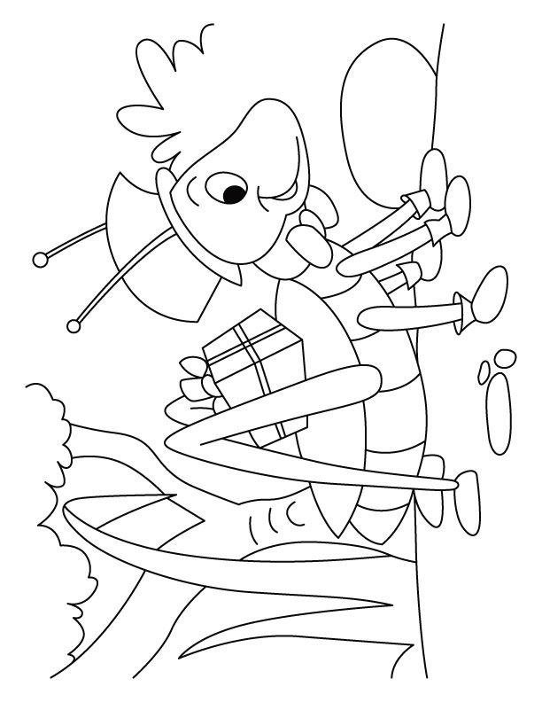Printable Worksheets the grasshopper and the ant worksheets : Grasshopper gift courier service coloring pages | Download Free ...