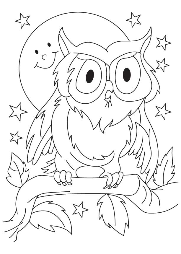 Great Horned Owl Coloring Picture