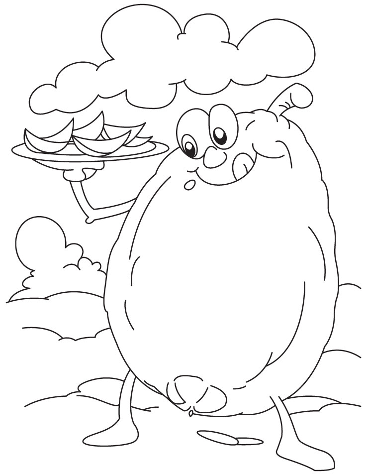 Guava Tree Coloring Pages