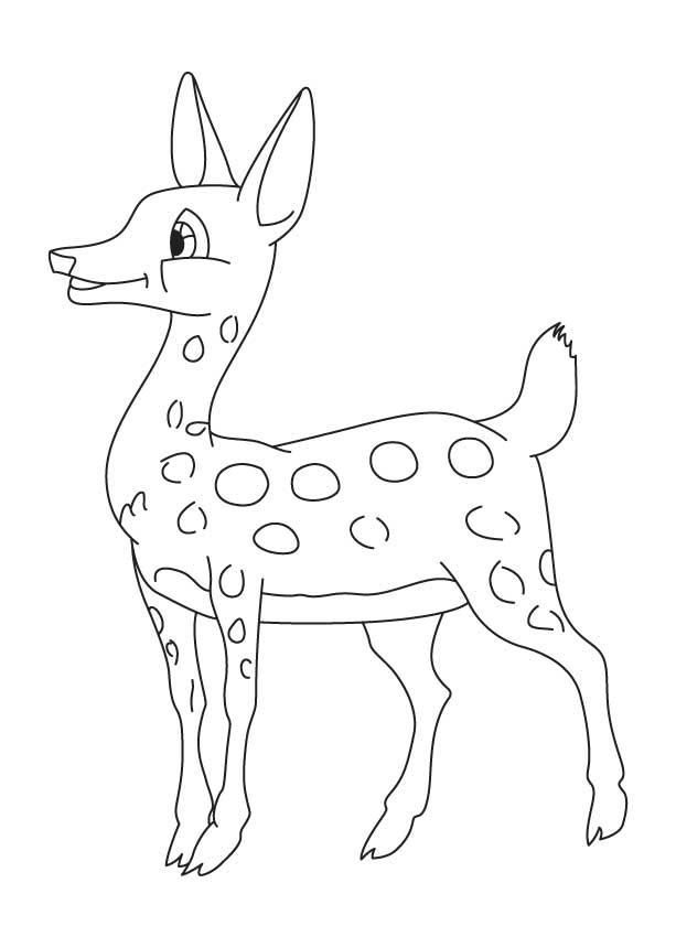 Happy deer coloring page   Download Free Happy deer ...