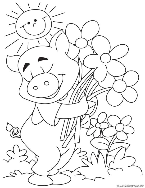 Happy pig coloring page | Download Free Happy pig coloring ...