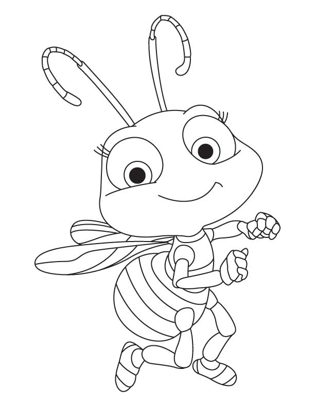 cute honey bee coloring pages free - Bee Coloring Page