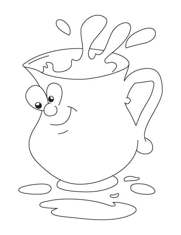 lemonade pitcher coloring page