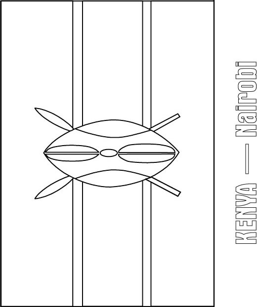 Kenya flag coloring page coloring pages for Ghana flag coloring page
