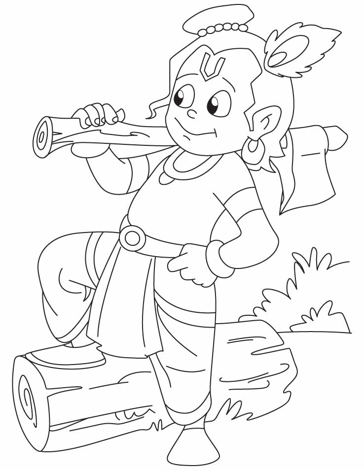 Chota Bheem And Hanuman Colouring Pages | Coloring Page
