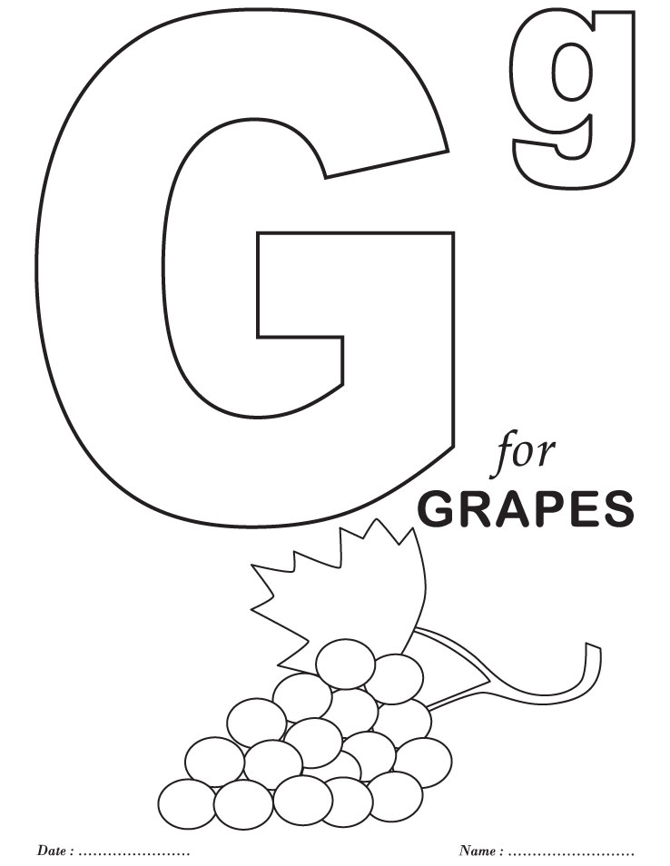 Printables Alphabet G Coloring Sheets | Download Free ...
