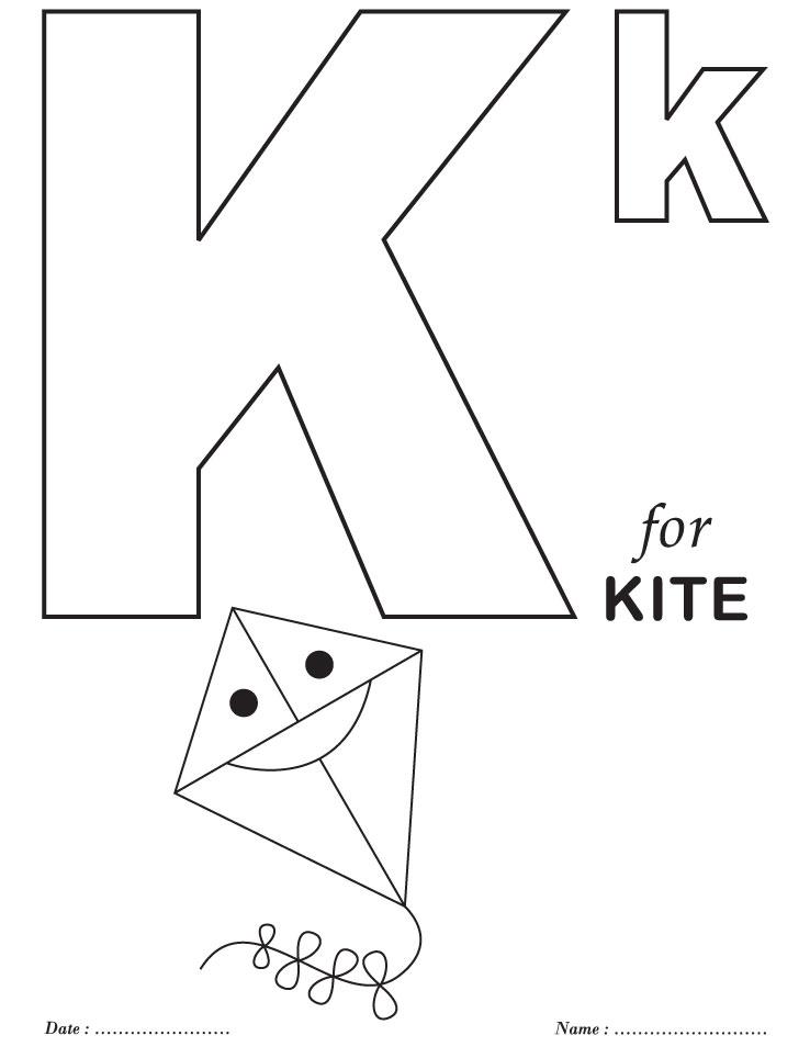 Printables Alphabet K Coloring Sheets Free