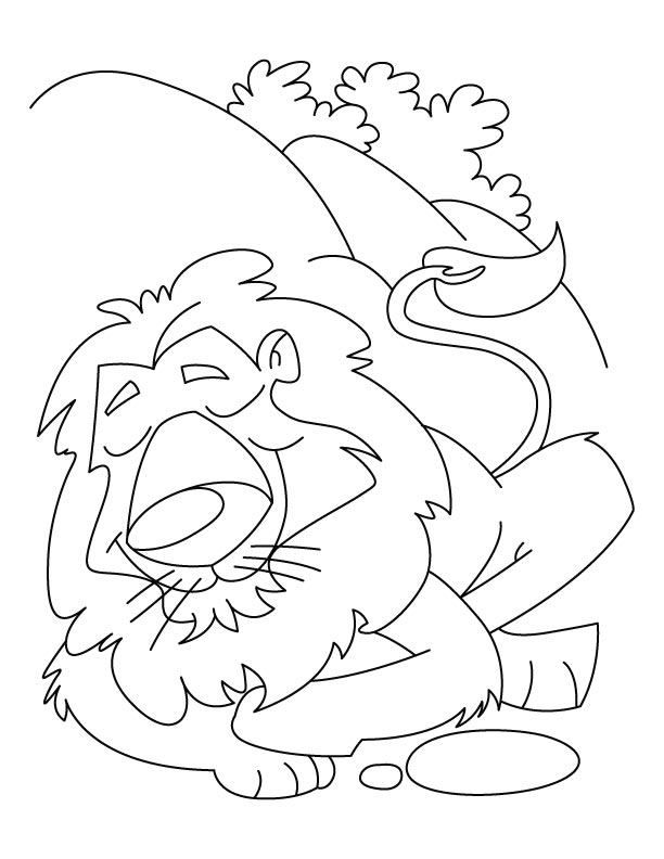 Coloring Pages Lion And The Mouse Coloring Page