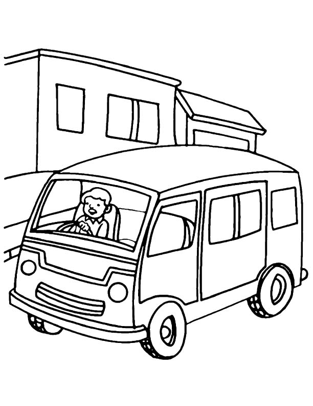 Metro Van Coloring Page Download Free