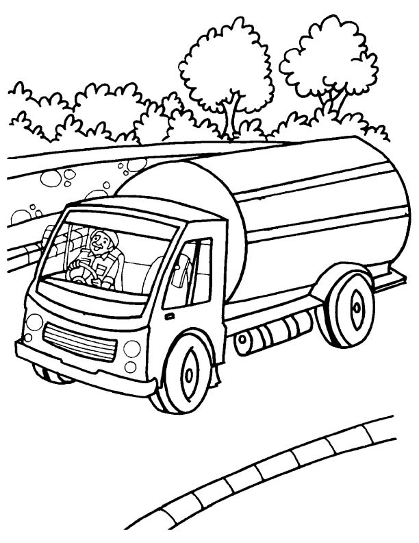 Milk Truck Coloring Page | Coloring Page