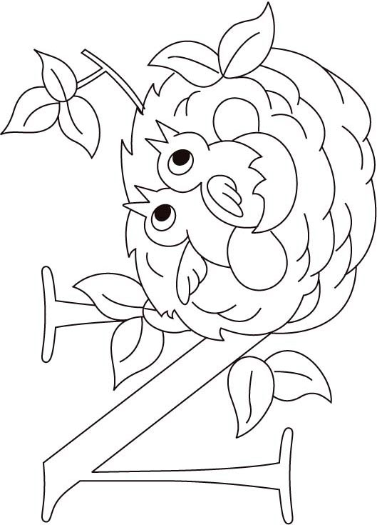 N For Nest Coloring Page Kids Free