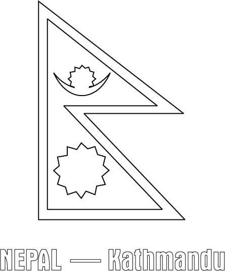 nepal flag coloring page free