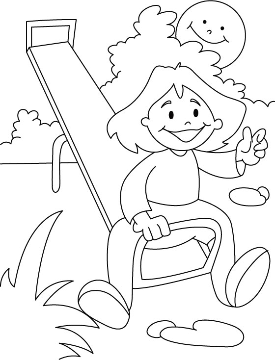Children Park Drawing Sketch Coloring Page
