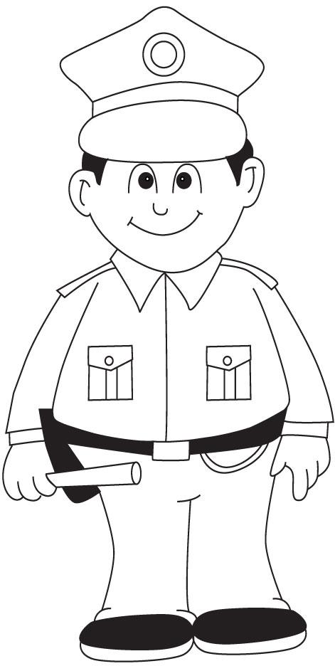 Policeman coloring page | Download Free Policeman coloring ...