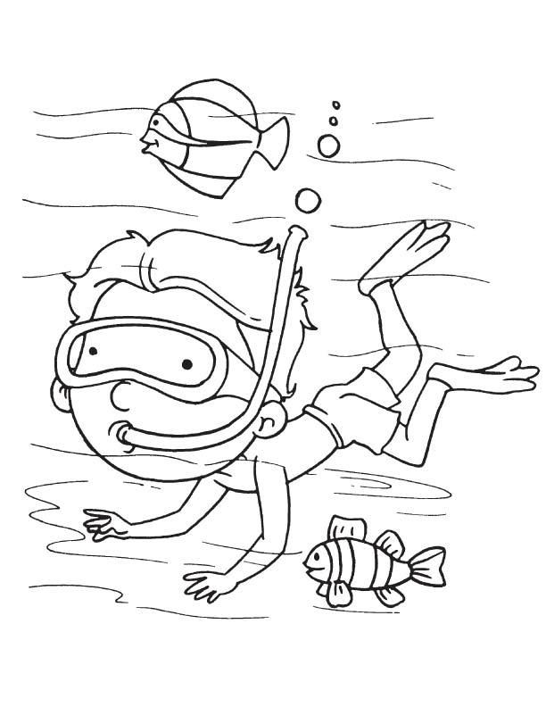 free scuba diver coloring pages coloring pages