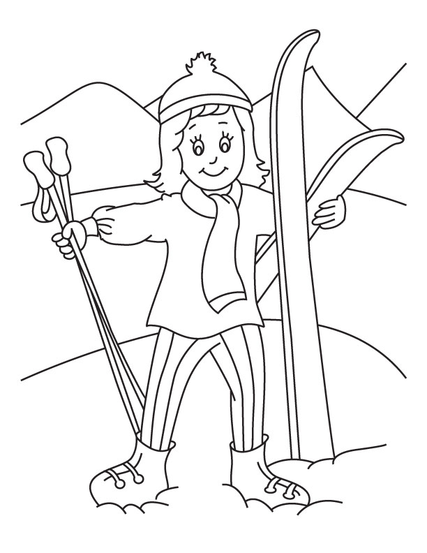 bears skiing coloring pages - photo#15