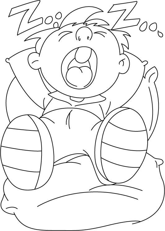 Sleeping coloring page | Download Free Sleeping coloring ...