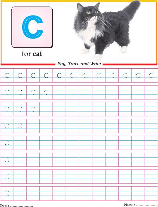 Number Names Worksheets worksheets for letter c : Small letter c practice worksheet | Download Free Small letter c ...
