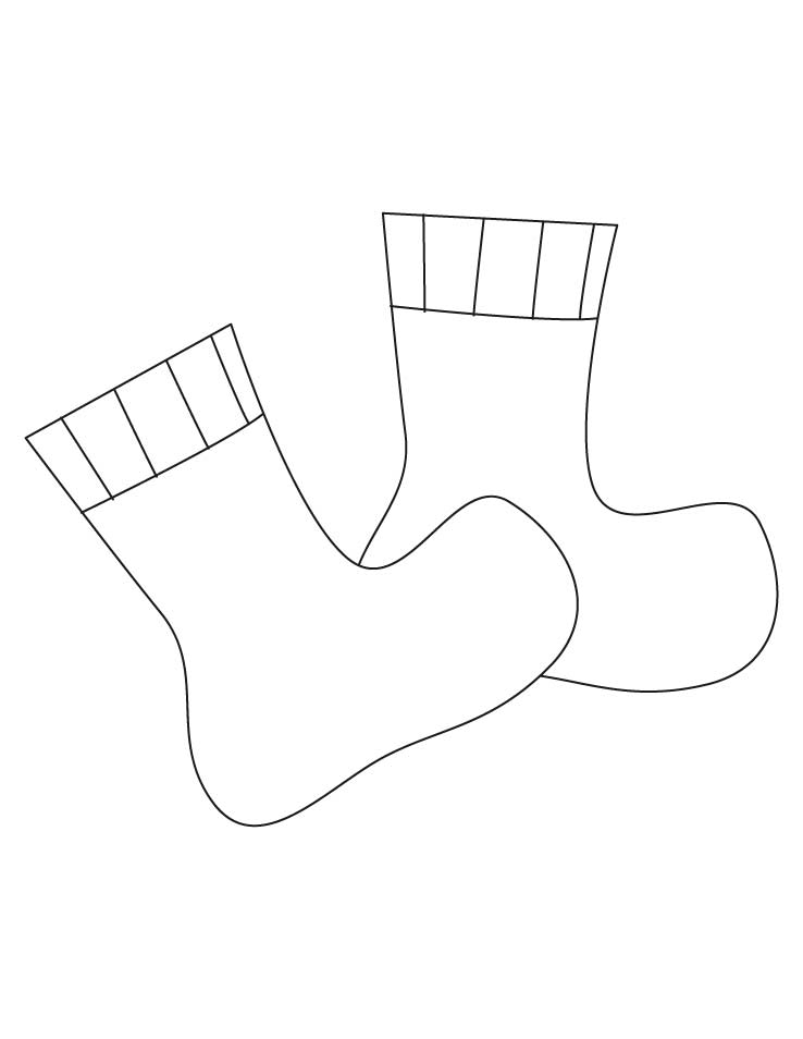 Socks coloring pages   Download Free Socks coloring pages ...