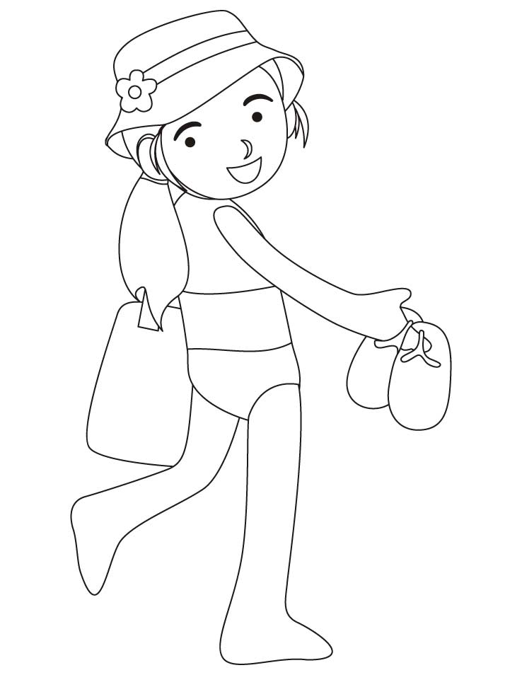 swimming suit coloring pages - photo#45