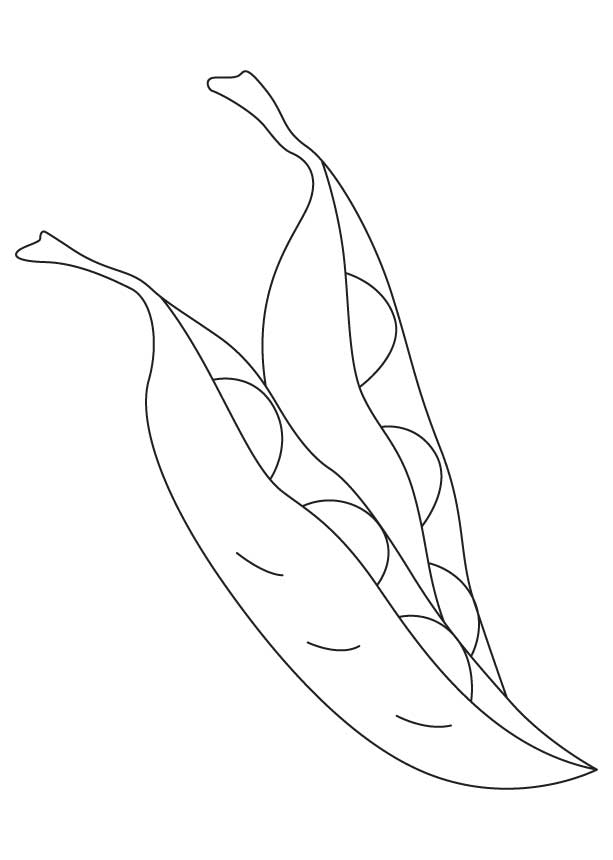 Two Peas Coloring Page Free For