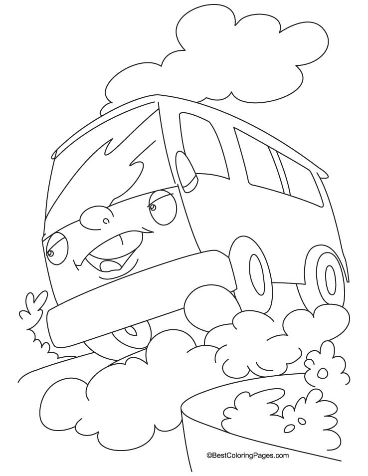 This is an image of Intrepid vans coloring page