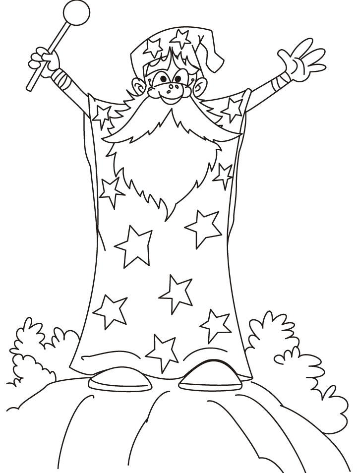 Wizard Coloring Pages Coloring Pages